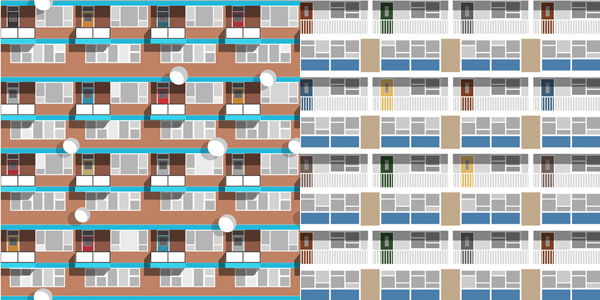 Oscar Francis' 'Beautiful Estate' collection inspired by Hackney and Lambeth council estates