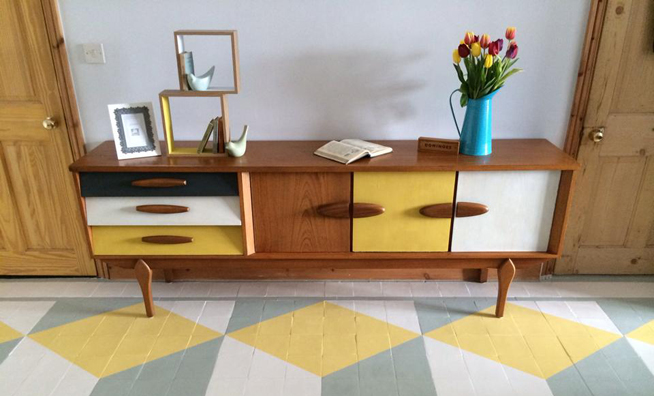 Farrow and Ball Sideboard and Floor